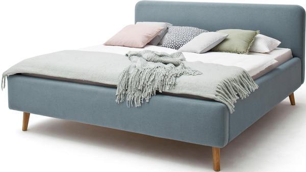 Meise Möbel Mattis Polsterbett 140x200cm blau