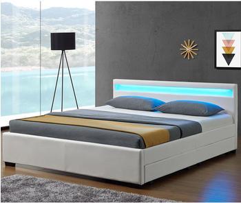 Juskys ArtLife Lyon mit Matratze 140x200cm weiß