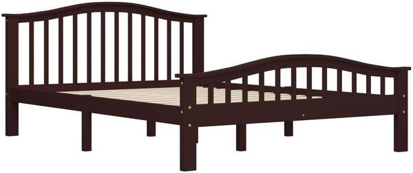 vidaXL Bedframe Solid Pine Brown 140 x 200 cm