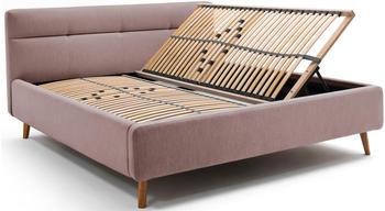 Meise Möbel Lotte mit Bettkasten 180x200cm altrosa