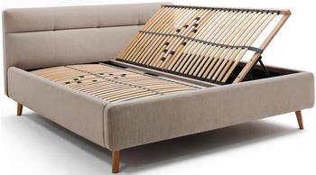 Meise Möbel Lotte mit Bettkasten 180x200cm beige