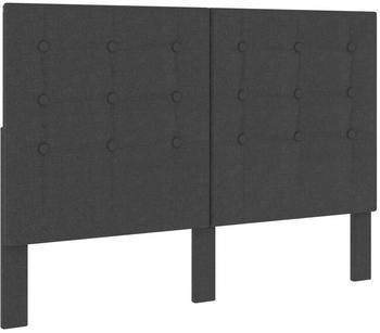 vidaXL Headboard Tufted in Dark Grey Fabric 140 x 200 cm