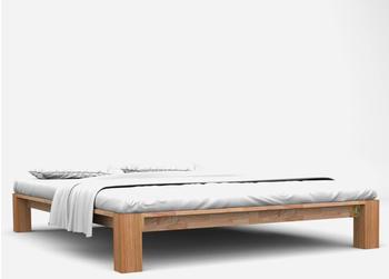 vidaXL Bed Without Headboard in Oak Wood 160 x 200 cm