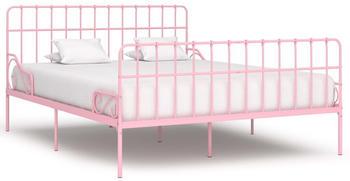 vidaXL Bedframe in Pink Metal 180 x 200 cm