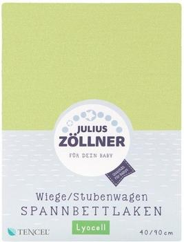 Julius Zöllner Spannbetttuch Jersey 40x90cm grün