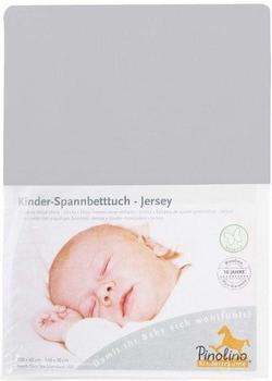 Pinolino Spannbetttuch für Kinderbetten Jersey - uni grau
