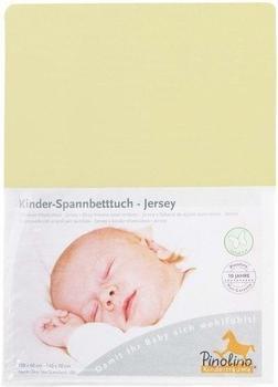 Pinolino Spannbetttuch für Kinderbetten Jersey Gelb