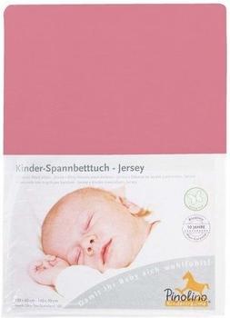 Pinolino Spannbetttuch für Kinderbetten Jersey - uni altrosa