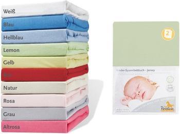 Pinolino Spannbetttuch für Kinderbetten Jersey - uni lemon