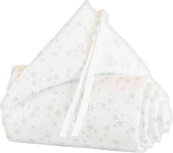 Babybay Nestchen Maxi/Boxspring Organic Cotton - weiß Sterne perlgrau (160815)