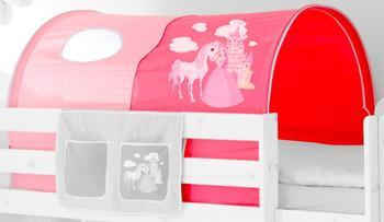 Ticaa Tunnel für Hoch- und Etagenbetten Pferd pink