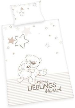 Herding Bettwäsche 100x135cm Flanell - Lieblingsmensch