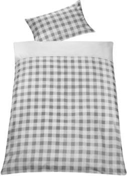 Schardt Bettwäsche 100x135 cm - Vichy grey