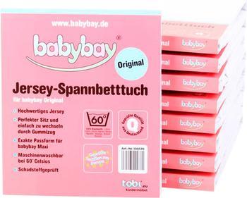 Babybay Original Jersey-Spannbetttuch weiß (100570)