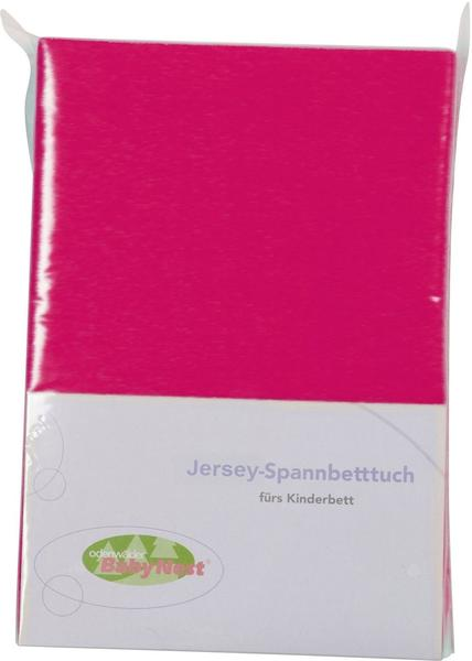 Odenwälder Spannbettlaken Jersey 70x140cm pink