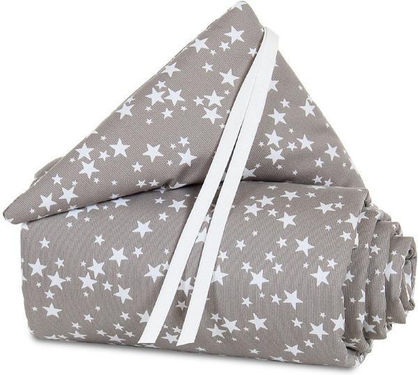 Babybay Nestchen Original Piqué - taupe Sterne weiß