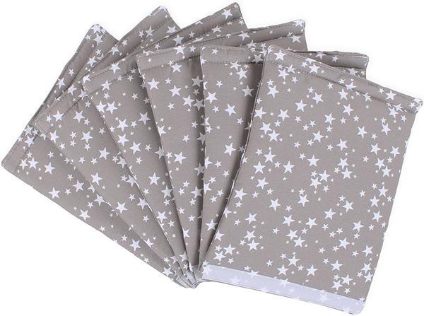 Babybay Original Nestchen Piqué ultrafresh taupe Sterne weiß (100867)