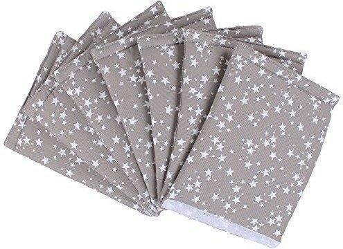 Babybay Nestchen Maxi Piqué ultrafresh - taupe Sterne weiß