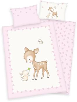 Herding Bettwäsche Baby Best Jana (100 x 135 / 40 x 60) - Rehkitz & Häschen Renforcé