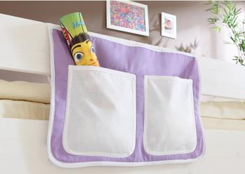Ticaa Bett-Tasche lila/weiß