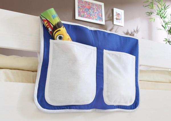 Ticaa Bett-Tasche blau weiß