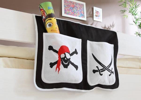 Ticaa Bett-Tasche Pirat schwarz/weiß