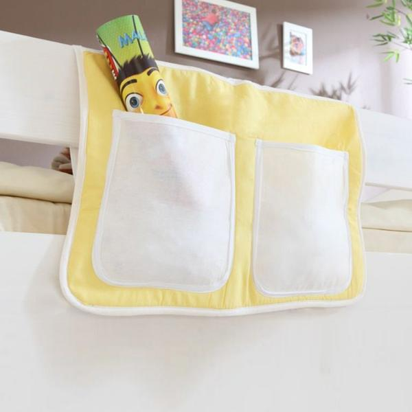 Ticaa Bett-Tasche gelb/weiß