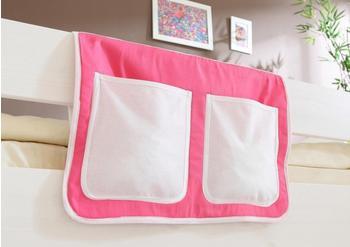 Ticaa Bett-Tasche rosa/weiß