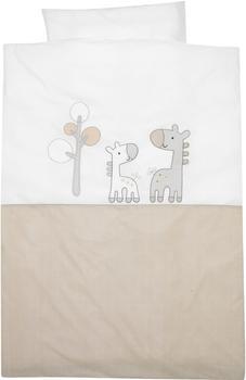 Alvi Bettwäsche Applikationen 100x135cm - Giraffe beige