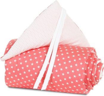 Babybay Nestchen Maxi/Boxspring Organic Cotton - pfirsich Sterne weiß