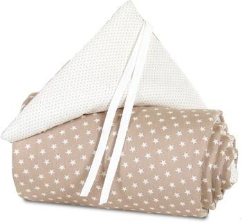 Babybay Nestchen Midi/Mini Organic Cotton - hellbraun Sterne weiß