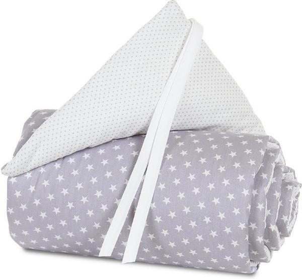 Babybay Nestchen Midi/Mini Organic Cotton - lichtgrau Sterne weiß
