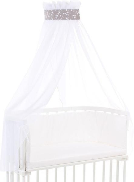 Babybay Himmel mit Schleife Piqué - Sterne taupe