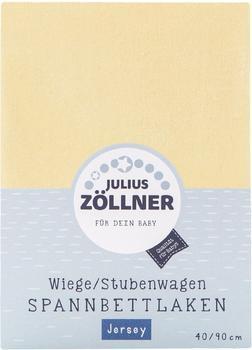Julius Zöllner Wiege/Stubenwagen Spannbettlaken Jersey 90x40cm banana