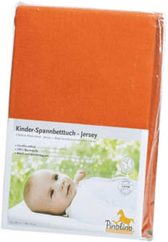 Pinolino Spannbetttuch für Kinderbetten Jersey - uni rot