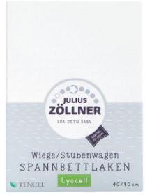 Julius Zöllner Spannbetttuch Tencel 90x40cm 3er Pack weiß