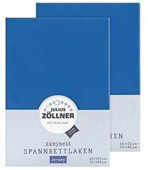 Julius Zöllner Spannbetttuch Jersey 70x140cm 2er Pack - rojalblau