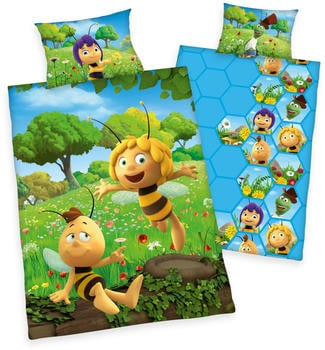 Herding Kinderbettwäsche 100x135cm - Biene Maja mit Willi