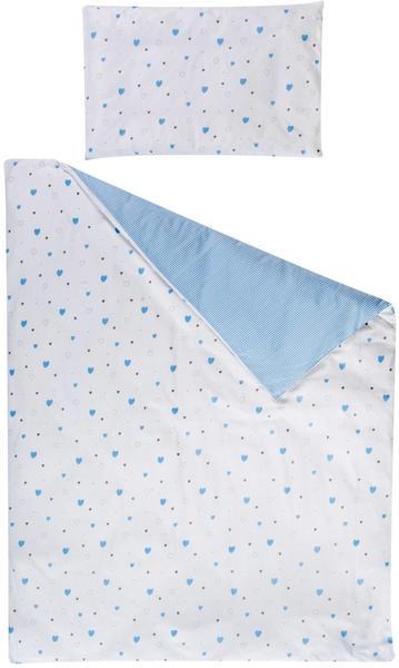 Schardt Bettwäsche 100x135cm - Herzchen blau