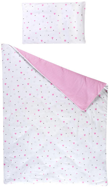 Schardt Bettwäsche 100x135cm - Herzchen rosa