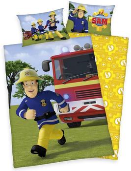 Herding Bettwäsche 100x135cm Renforcé - Feuerwehrmann Sam gelb