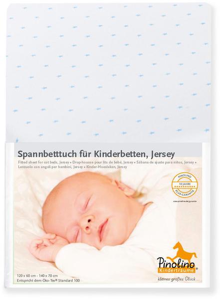 Pinolino Spannbetttuch für Kinderbetten Jersey Doppelpack - Sternchen hellblau