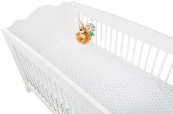 Pinolino Spannbetttuch für Kinderbetten Jersey Doppelpack - Sternchen grau