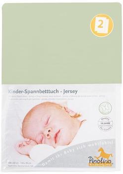 Pinolino Spannbetttuch für Kinderbetten Jersey - uni lemon Doppelpack