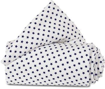 Babybay Nestchen Organic Cotton Original 149 x 25 cm weiß sterne blau