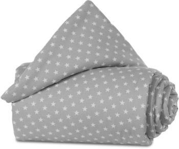 Babybay Nestchen Organic Cotton Original 149 x 25 cm lichtgrau sterne weiß