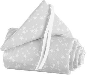 Babybay Nestchen Piqué passend für Modell Boxspring XXL perlgrau sterne weiß