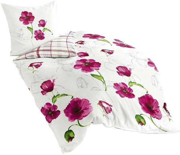 Bierbaum Bettwäsche 6404 rosa/weiß (135x200+80x80cm)