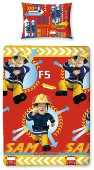 Character World Feuerwehrmann Sam - Wende Bettwäsche Feueralarm 135x200cm