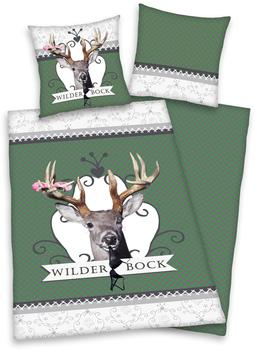 Herding Wilder Bock grün (135x200+80x80cm)